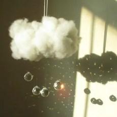 wool cloud suncatcher and nightlight