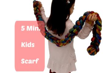 arm knitting scarf tutorial