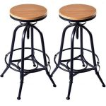 wood metal bar stool