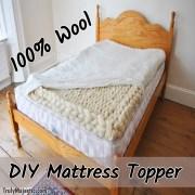 DIY Wool Mattress Topper