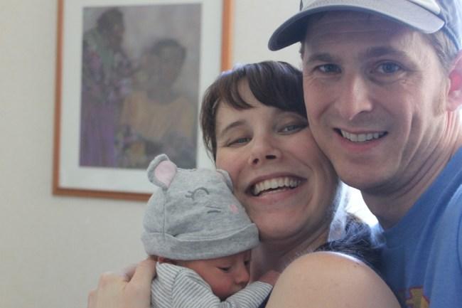 Family Selfie Before Leaving Hospital