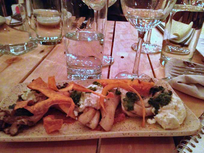 Oyster Mushrooms and Quark Cheese Appetizer at Braise Milwaukee