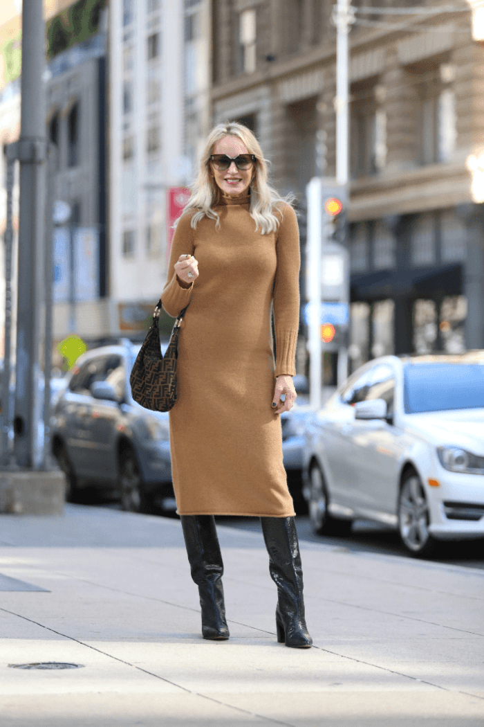 Thanksgiving Day Outfit | The Sweater Dress Edit