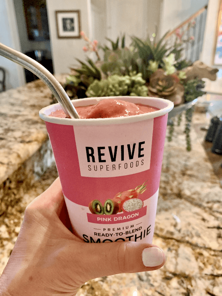 Revive Superfoods Pink Dragon smoothie.