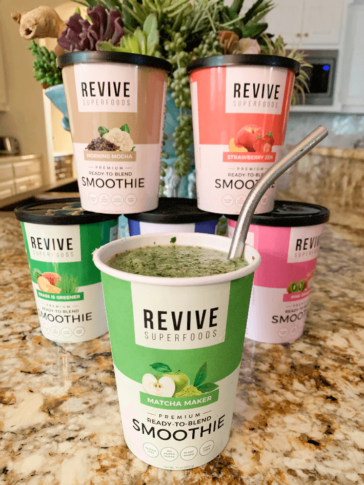 Revive Superfoods home delivery smoothies.