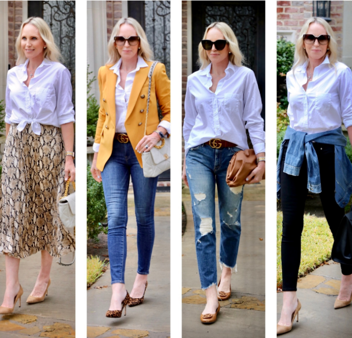 4 Ways To Style The Classic White Button Up