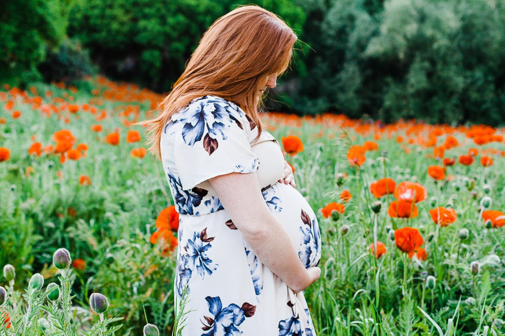 Kayla | Mantua Poppies Maternity Session | Truly Photography