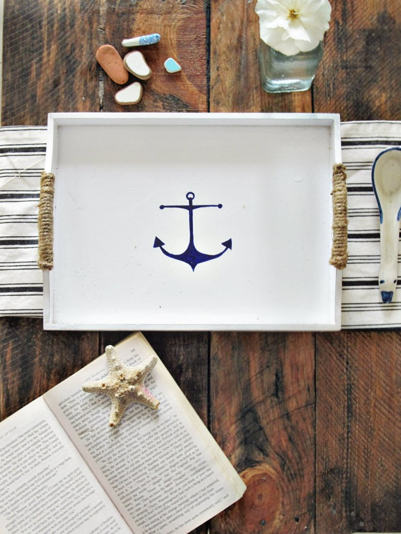 Nautical Tray makeover 3
