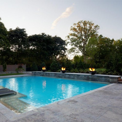 Outdoor Pool Stone Design 3 (Trumeau Stones)
