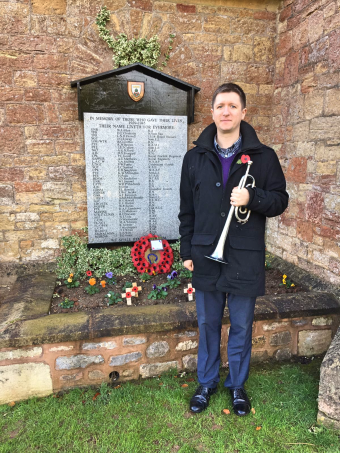 Remembrance at Wells Cemetery, November 2016