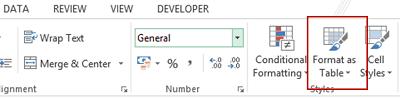 Insertar tabla de Excel
