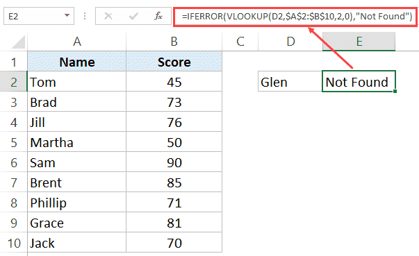 Use Iferror With Vlookup To Get Rid Of Na Errors