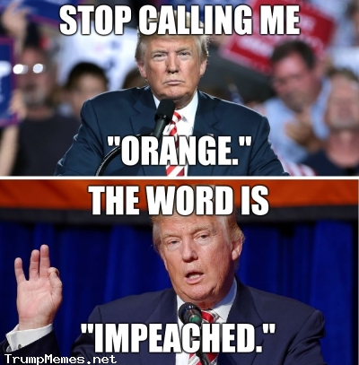 """Stop calling Trump orange. The word is """"impeached."""""""