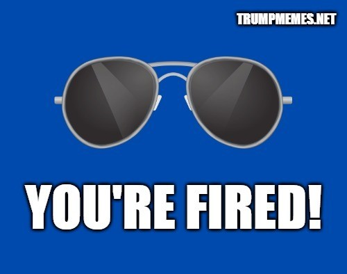 """""""Trump Is Fired"""" Meme - Thank you for voting!"""