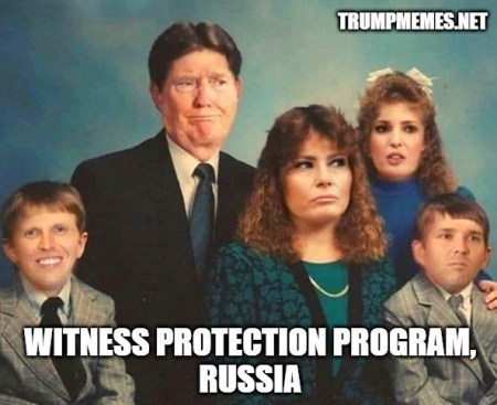 Trump family in disguise