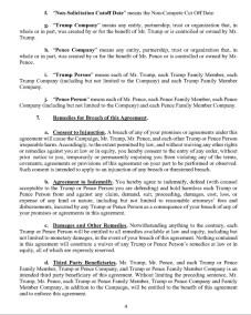 Trump's Post Service Agreement : NDA Page 4