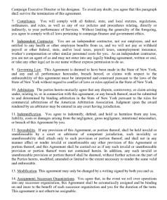 Trump's Post Service Agreement : NDA Page 8