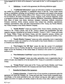 Trump's 2016 Campaign Agreement : NDA Page 3