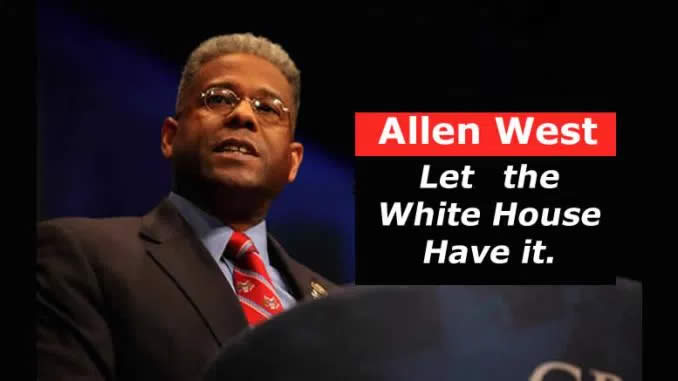 Allen West - I can no longer sit on the sidelines without saying this