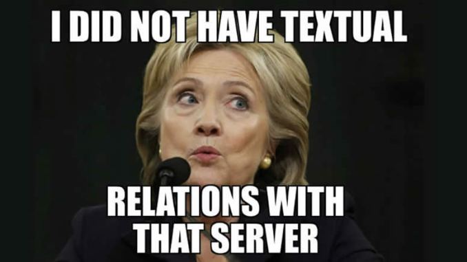 Hillary Squirms