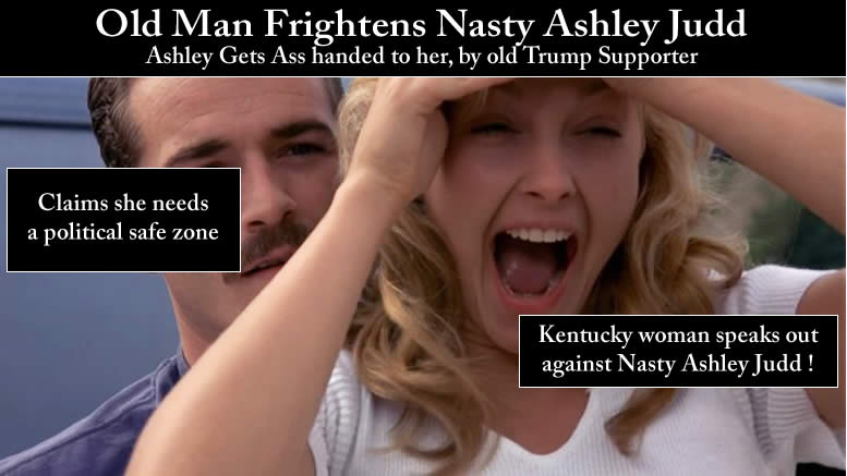 Nasty Ashley Judd is at it again!