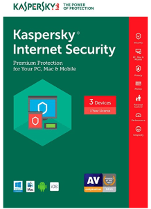 Kaspersky Internet Security sold as a digital download on Amazon