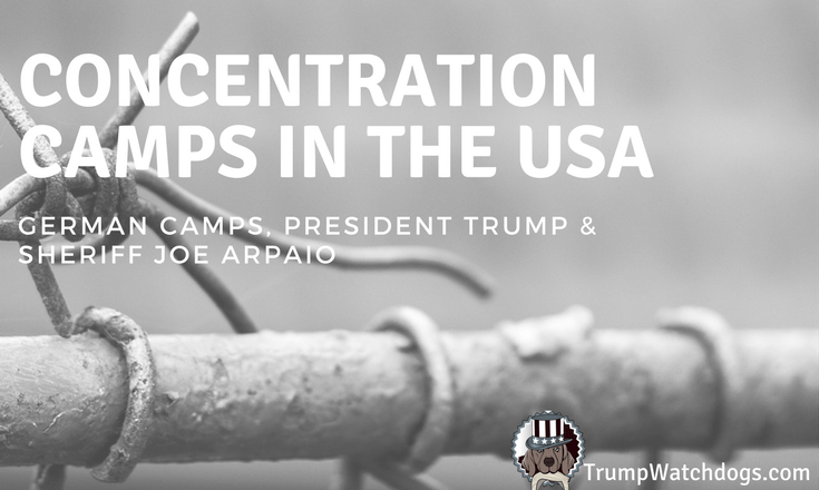 Barbed wire and the title Concentration Camps In The USA