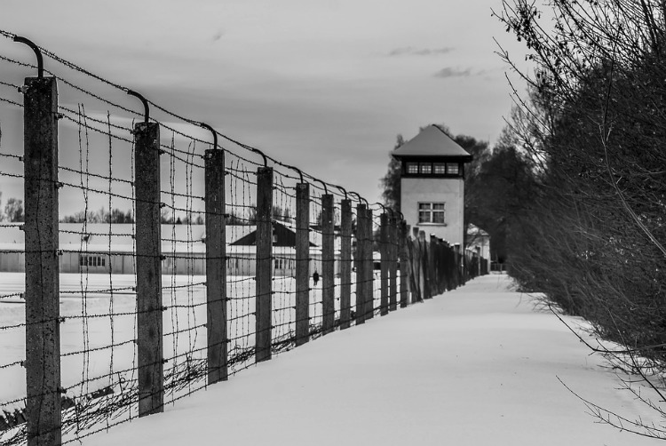 A modern view of Dachau in winter