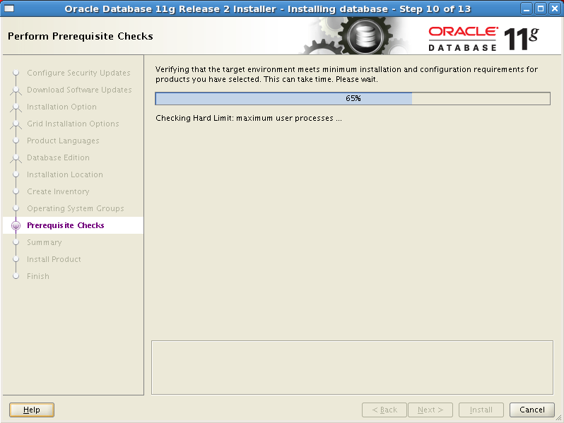 Install Oracle software 10