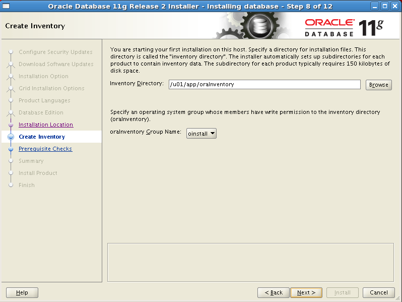 Install Oracle software 8