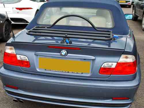 bmw 3 series convertible luggage rack no bolts no clamps no fuss. Black Bedroom Furniture Sets. Home Design Ideas