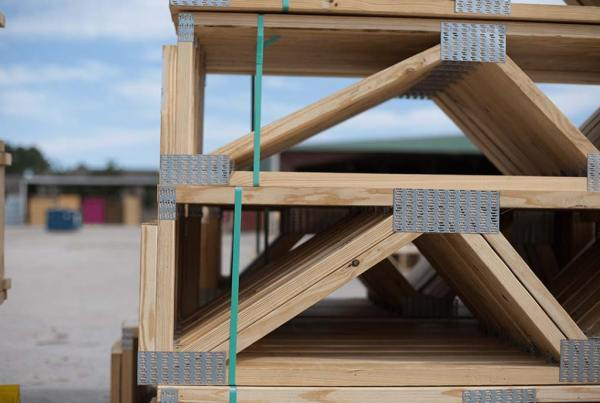 floor trusses stacked
