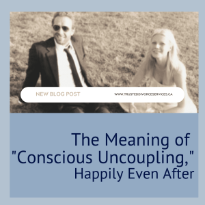 """A picture of Gwyneth Paltrow and the words """"conscious uncoupling"""""""