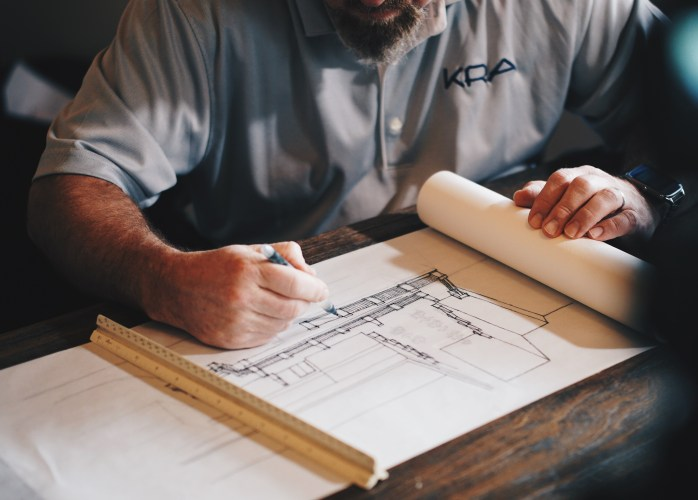 Blueprints for a home renovation