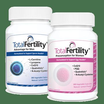 Total Fertility® Preconception for Women + Total Fertility® Advantage for Men: $5 OFF one set
