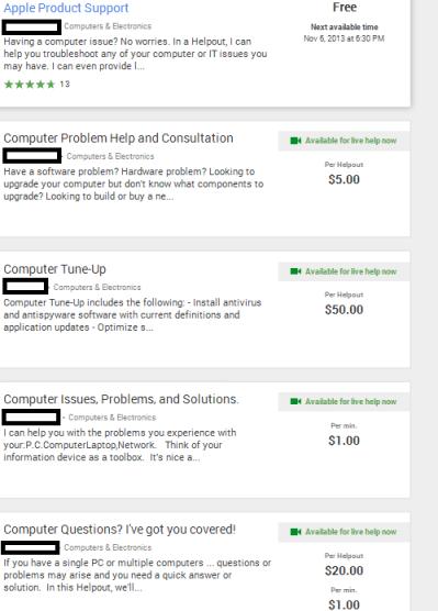 Google Helpouts