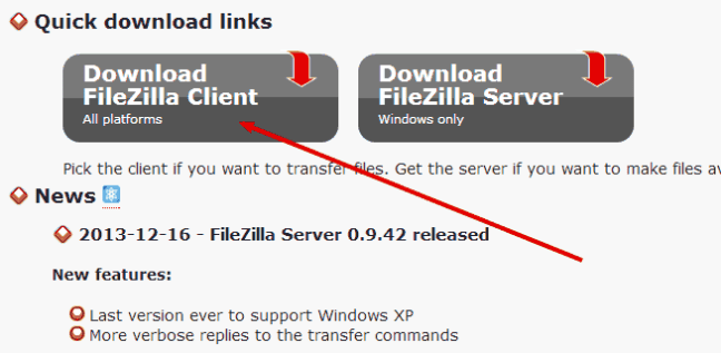 filezilla client windows xp download