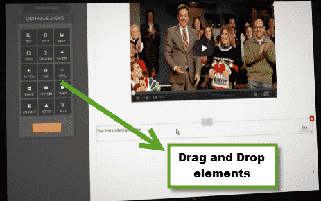 Drag and Drop theme builder