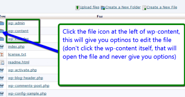 open files directory