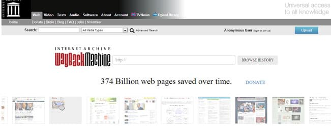restore a website with web archive