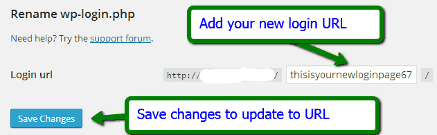 Change the Login URL