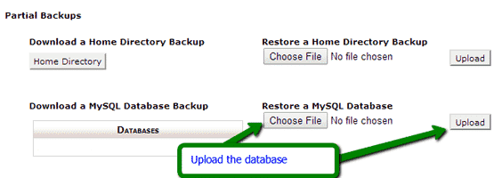 How to Restore a Database in cPanel