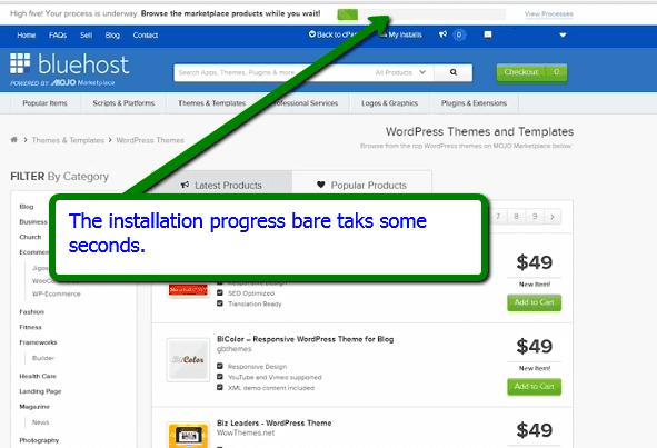 Installation Progress bar