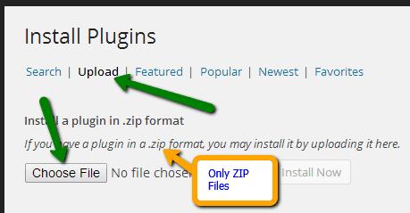 upload WordPress plugin