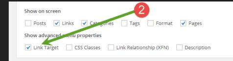 Enable link target