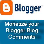 Monetize your Blogspot comments