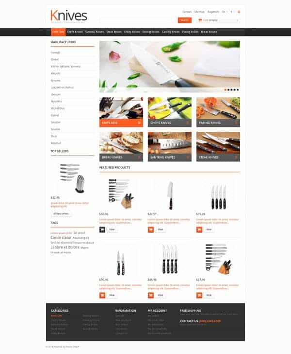 Knives for Cooking PrestaShop Theme