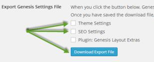 Theme export
