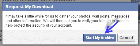 Retrieve old messages in Facebook