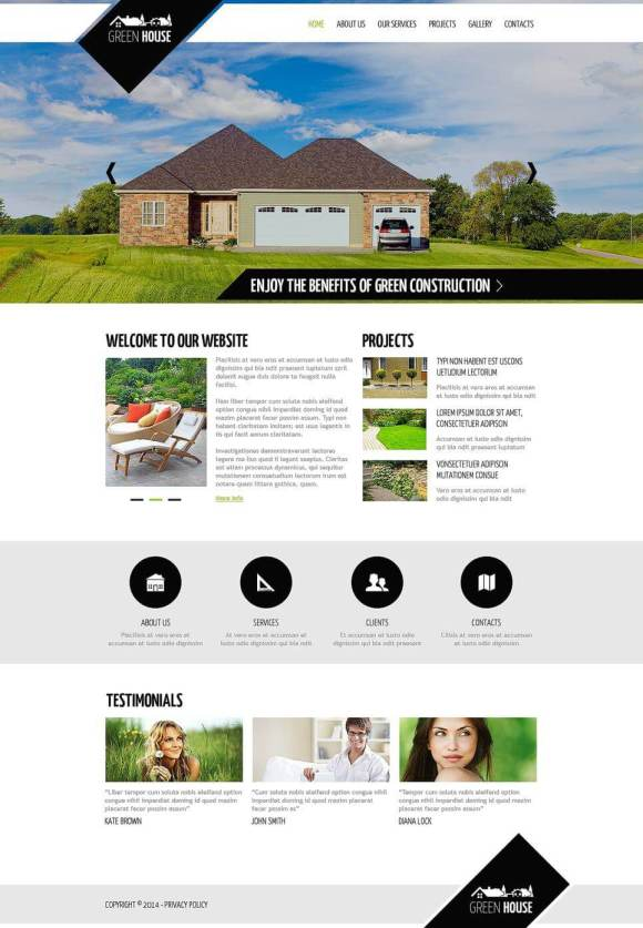 Green house template